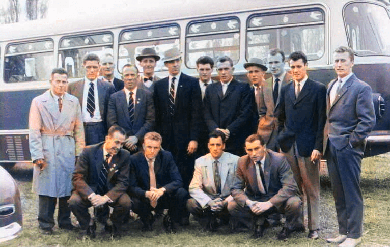 Port Vale tour of Czechoslovakia in 1961 - colourised version