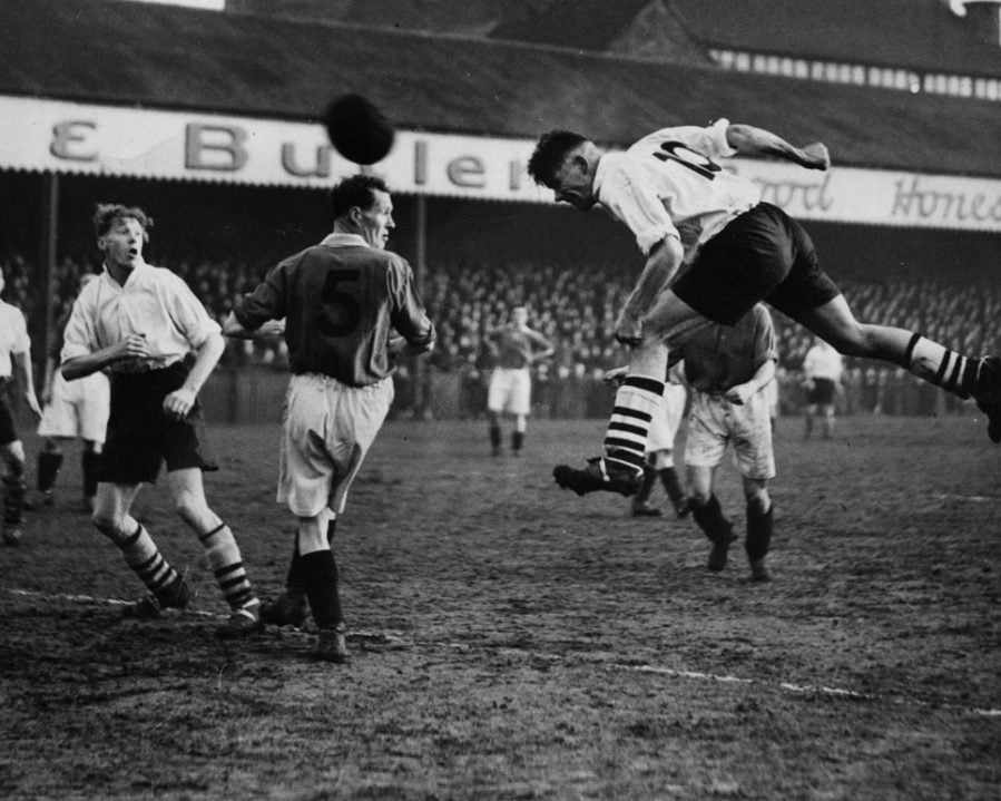 Port Vale in action at the Old Rec in 1948