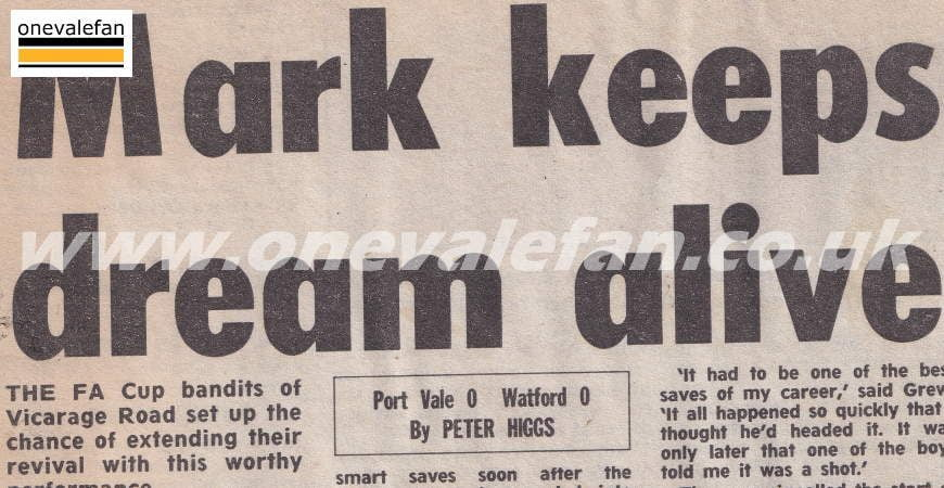 Port Vale 0-0 Watford, FA Cup 1988