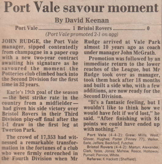 Port Vale 1-0 Bristol Rovers