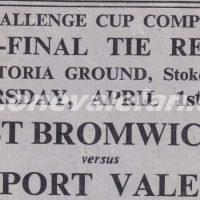 1954 FA Cup semi-final replay ticket