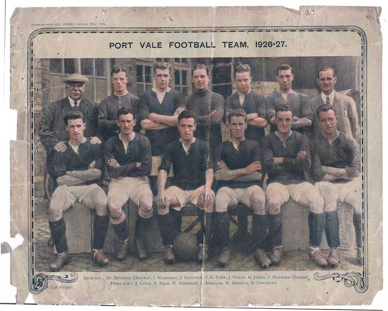 Port Vale 1926-27 team - colourised version