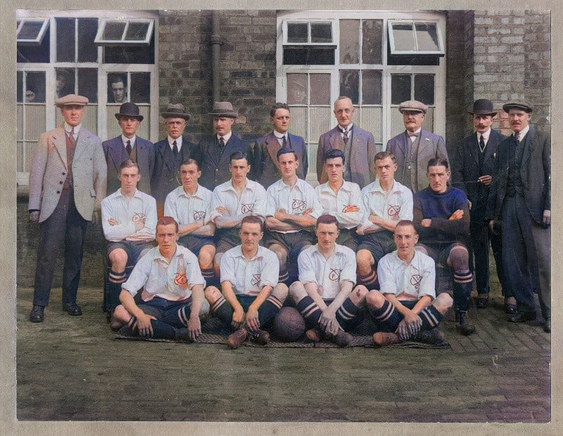 Port Vale team photo 1920's - colourised version