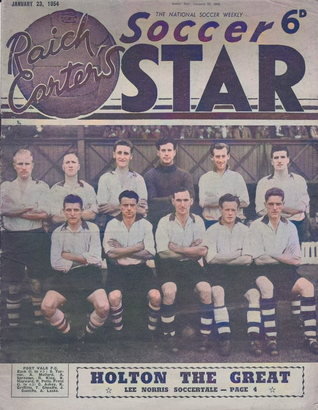 Port Vale 1954 team - colourised version