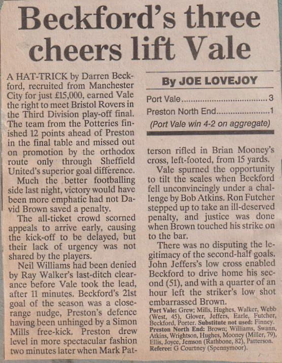 Port Vale 3-1 Preston