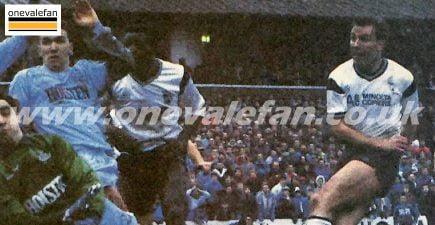 Phil Sproson scores against Spurs in 1988