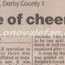 Port Vale 1-1 Derby County press clipping
