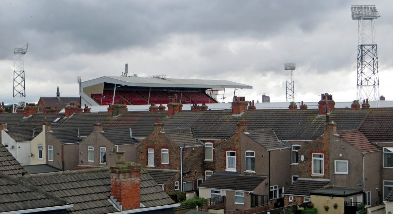 """""""Blundell Park, Grimsby Town"""" by diamond geezer is licensed under CC BY-NC-ND 2.0"""