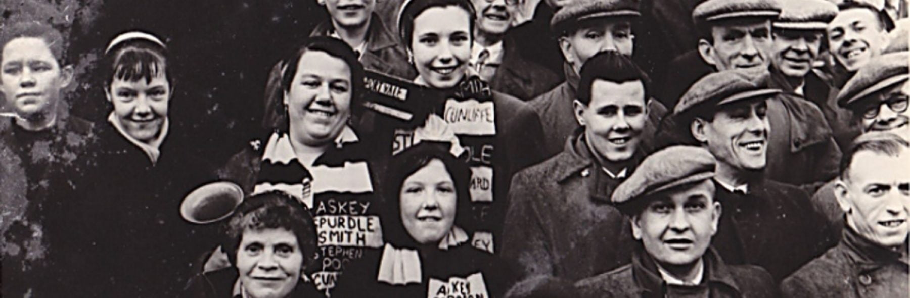 Vintage image of Port Vale fans