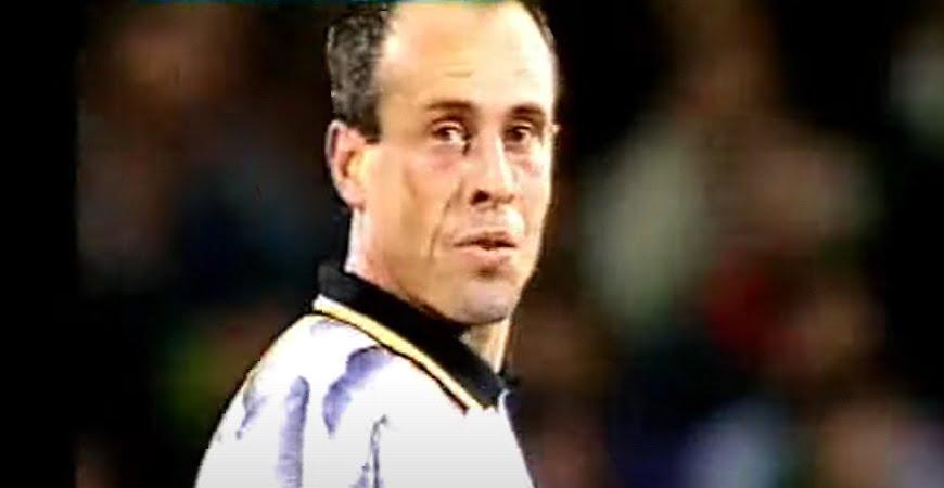Martin Foyle in action for Port Vale against Stoke City 1991.