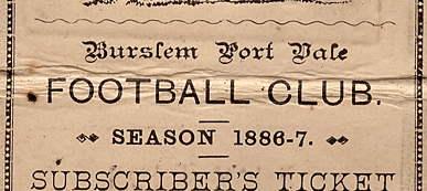 Port Vale history: vintage season ticket