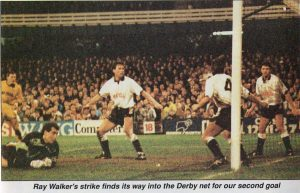 Port Vale's Ray Walker scores against Derby County, FA Cup 1900
