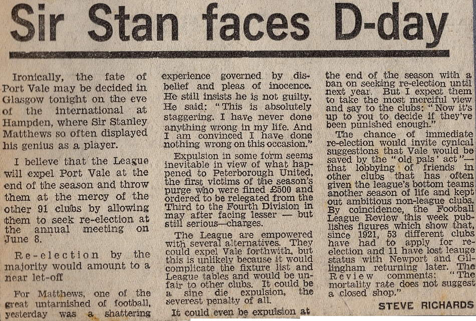 Sir Stan D-Day - press clipping