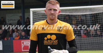 Port Vale goalkeeper Aidan Stone