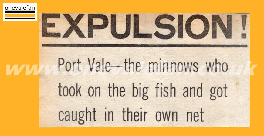 Port Vale's expulsion from the Football League in 1968