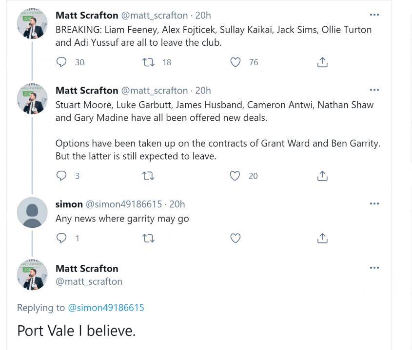 Matt Scrafton tweet