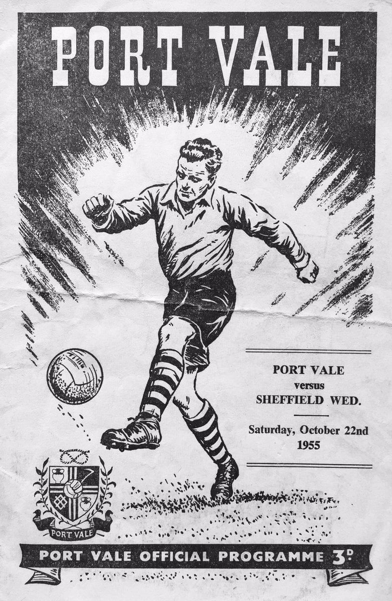 Port Vale v Sheffield Wednesday match programme 1955