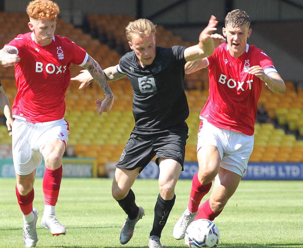 Tom Conlon battles - Port Vale 0-2 Nottm Forest, friendly 2021