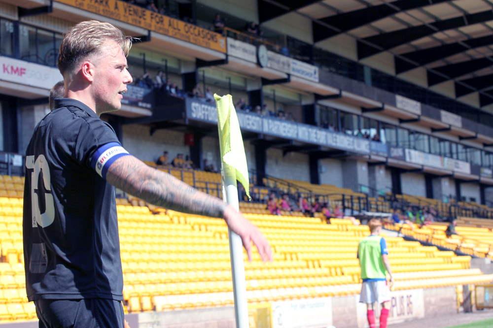 Tom Conlon takes a corner - Port Vale 0-2 Nottm Forest, friendly 2021
