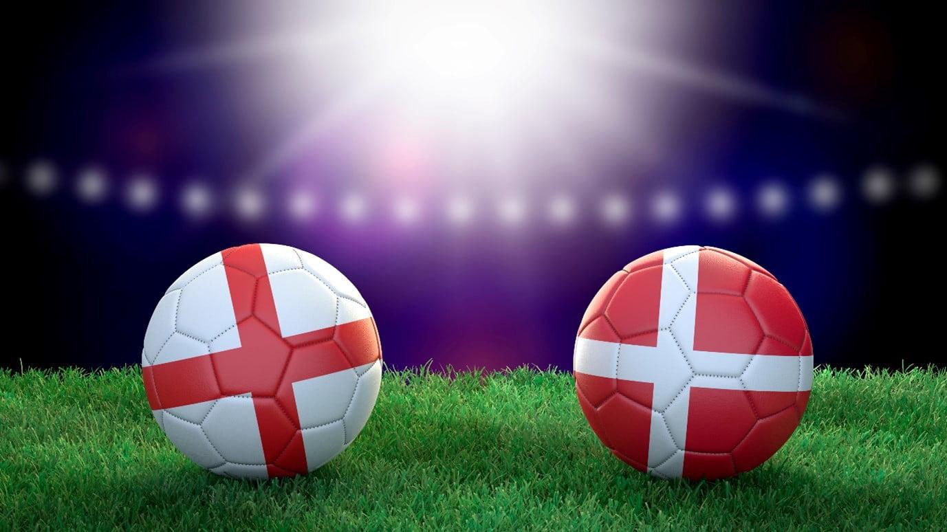 England v Denmark graphic