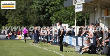 General view of the Kidsgrove Athletic v Port Vale friendly 2021