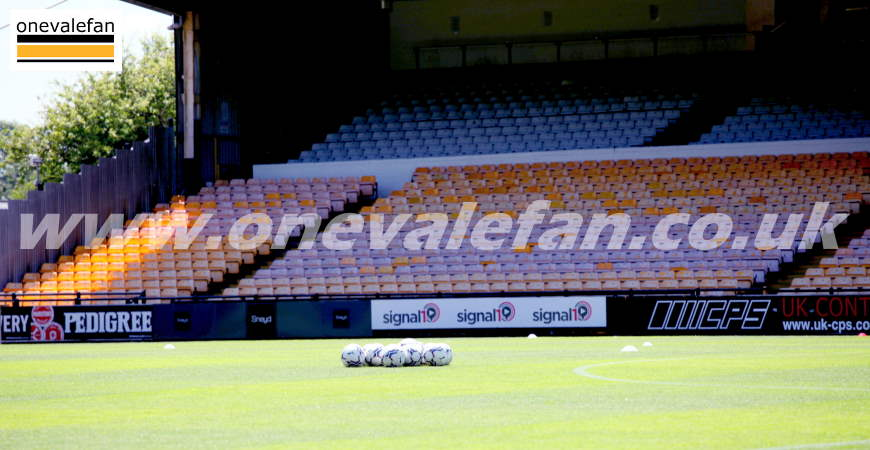 A general view of Port Vale FC's Vale Park stadium in 2021
