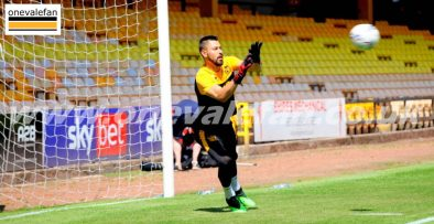 Port Vale goalkeeper Lucas Covolan