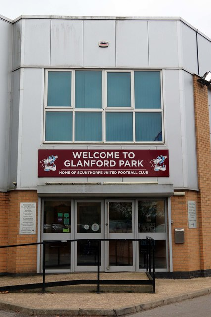 """""""The main entrance to Glanford Park"""" by Steve Daniels is licensed under CC BY-SA 2.0"""