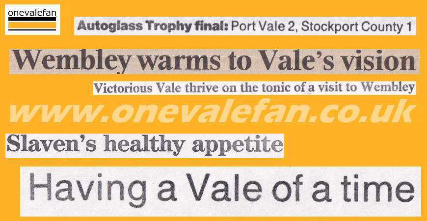 How the national press covered Port Vale's Autoglass Trophy win