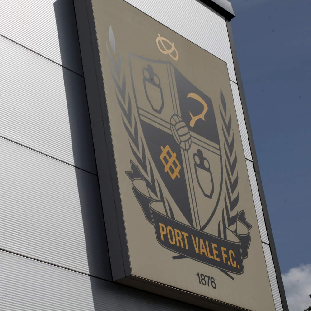 Port Vale sign on the club shop