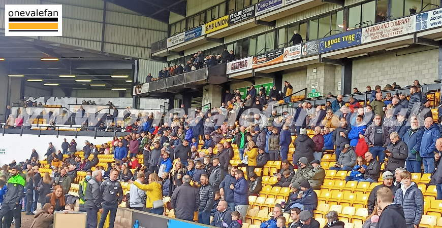 Port Vale FC supporters in the Lorne St stand