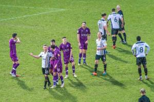 Tempers flare as Ricky Miller is sent off