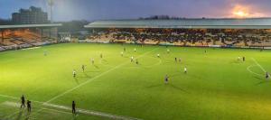 A general view as Port Vale take on Carlisle Utd