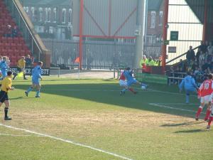 Crewe 1-1 Port Vale: Matt Carragher cuts out a cross