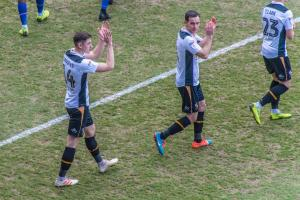 Adam Crookes and Luke Joyce applaud