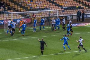 Theo Vassell goes close against Notts County
