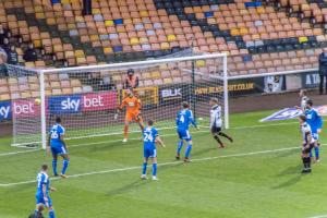 Luke Hannant's effort finds the net against Notts County