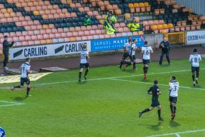 Port Vale 1-4 Oldham Athletic - Vale players celebrate