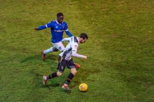 Port Vale 1-4 Oldham Athletic - David Worrall on the ball