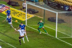 Port Vale 1-4 Oldham Athletic - Tom Pope heads
