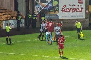 Tempers flare between Port Vale and Swindon Town players