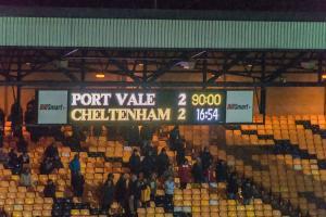 Port Vale 2-2 Cheltenham Town, 2018