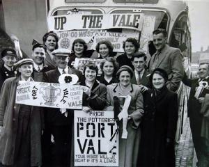 Port Vale fans ahead of an FA Cup tie