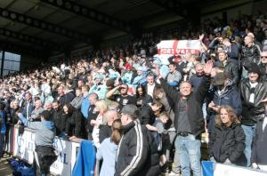 The away end at Wycombe 2013