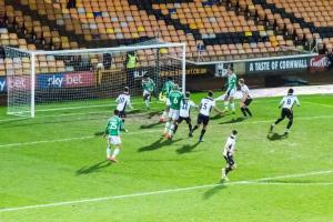Port Vale 3-0 Yeovil: Manny Oyeleke heads home
