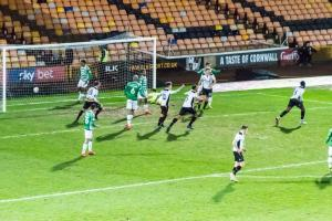 Port Vale 3-0 Yeovil: Manny Oyeleke runs away as his header find the net