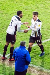 Port Vale 3-0 Yeovil: Sub Cristian Montano comes onto the pitch to replace Luke Hannant