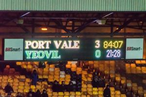 Port Vale 3-0 Yeovil: the Hamil End scoreboard