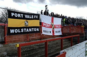 The Vale end at Accrington