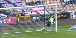Ben Whitfield's fine strike rattled the woodwork
